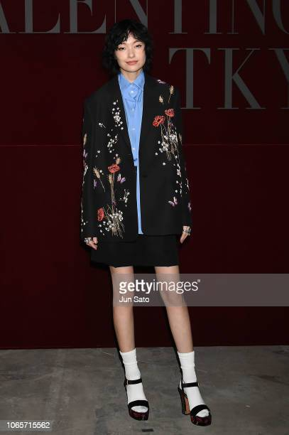 Model Rina Ota attends the photocall for Valentino TKY 2019 Pre-Fall Collection at Terada Warehouse on November 27, 2018 in Tokyo, Japan.