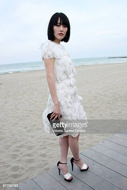 Model Rinko Kikuchi attends the Chanel Cruise 2010 Fashion Show on May 14 2009 in Venice Italy