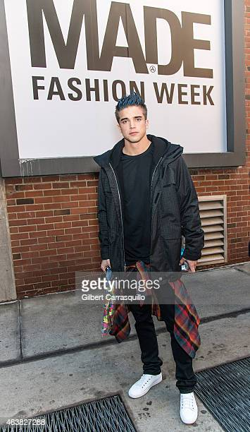 Model River Viiperi is seen outside Jeremy Scott fashion show during MercedesBenz Fashion Week Fall 2015 at Milk Studios on February 18 2015 in New...