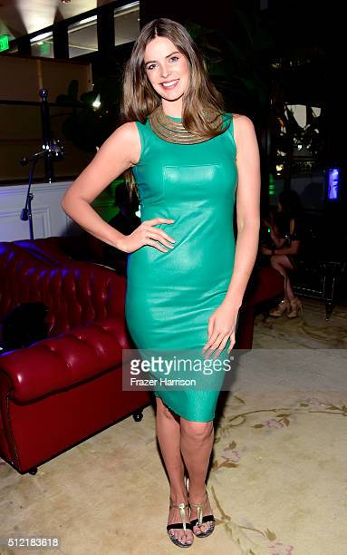 Model Robyn Lawley attends Global Green USA's 13th annual preOscar party at Mr C Beverly Hills on February 24 2016 in Los Angeles California
