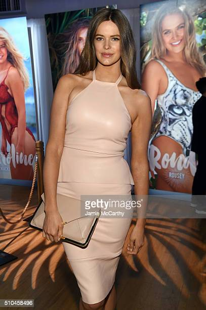 Model Robyn Lawley poses at the Sports Illustrated Swimsuit 2016 Swim City at the Altman Building on February 15 2016 in New York City