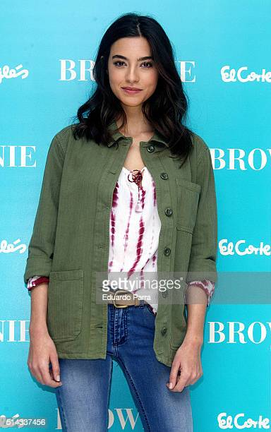 Model Rocio Crusset attends 'Brownie' new collection photocall at El Corte Ingles store on March 8 2016 in Madrid Spain