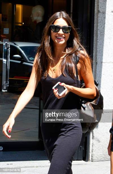 Model Rocio Crusset is seen on July 18 2018 in Madrid Spain