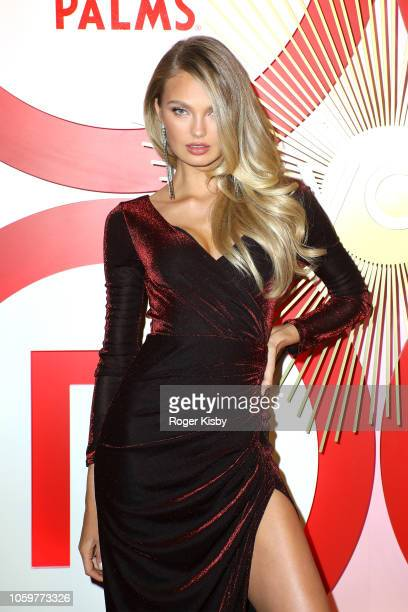 Model Romee Strijd attends Revolve's second annual #REVOLVEawards at Palms Casino Resort on November 9 2018 in Las Vegas Nevada
