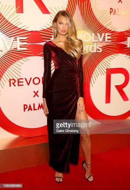 Model Romee Strijd attends Revolve's second annual #REVOLVEawards at Palms Casino Resort on November 9 2018 in Las Vegas Nevada