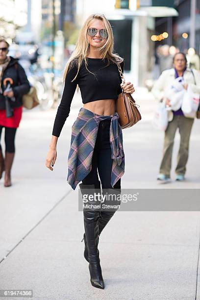 Model Romee Strijd attends the 2016 Victoria's Secret Fashion Show model fittings on October 31 2016 in New York City