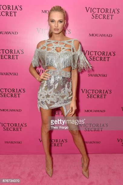 Model Romee Strijd attends the 2017 Victoria's Secret Fashion Show In Shanghai After Party at MercedesBenz Arena on November 20 2017 in Shanghai China