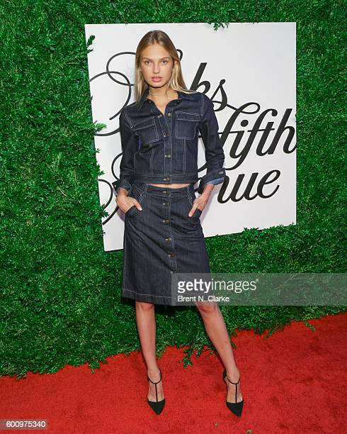 Model Romee Strijd attends the Saks Downtown x Vogue event held at Saks Downtown on September 8 2016 in New York City