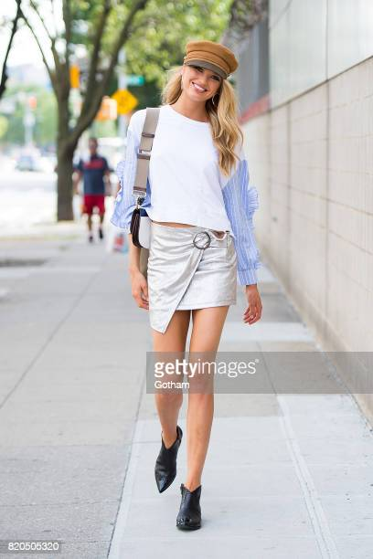 Model Romee Strijd is seen in Chelsea on July 21 2017 in New York City