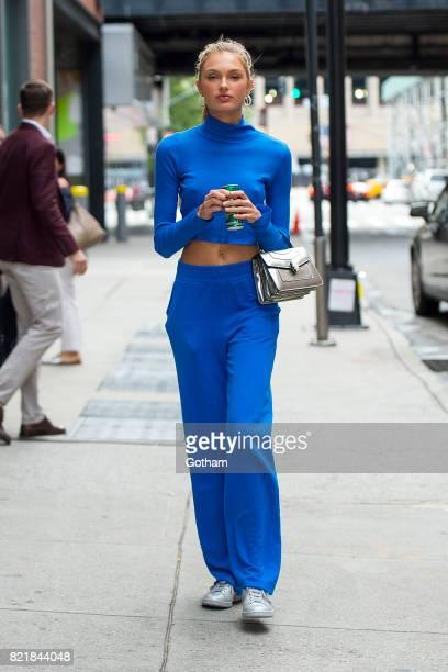 Model Romee Strijd is seen in Chelsea on July 24 2017 in New York City