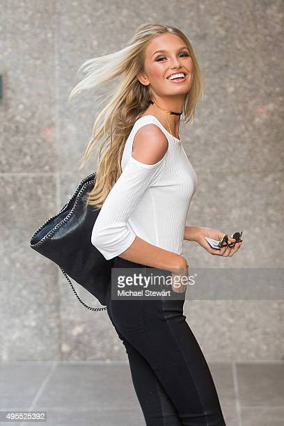 Model Romee Strijd is seen in Midtown on November 3 2015 in New York City