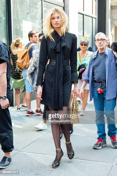 Model Romee Strijd is seen in NoHo on June 10 2017 in New York City