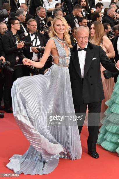 Model Romee Strjid and Fawaz Gruosi attend the screening of 'Everybody Knows ' and the opening gala during the 71st annual Cannes Film Festival at...