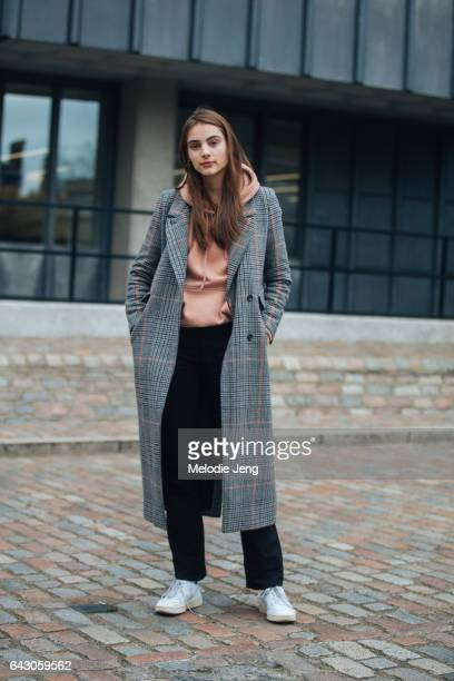 Model Romy Schonberger on day 3 of the London Fashion Week February 2017 collections on February 19 2017 in London England