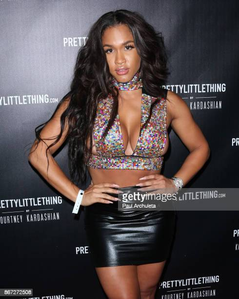 Model Rosa Acosta attends the PrettyLittleThing by Kourtney Kardashian launch party on October 25 2017 in Los Angeles California