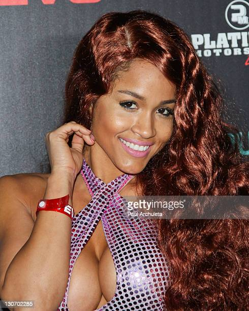 Model Rosa Acosta attends the Six Feet Deep Halloween celebration presented by VEVO and powered by Dubset on October 27 2011 in Los Angeles California