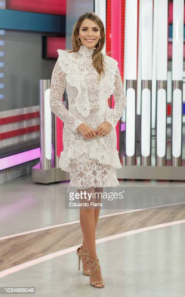 Model Rosanna Zanetti attends the 'Corazon' TV programme press conference at TVS studios on September 17 2018 in Madrid Spain