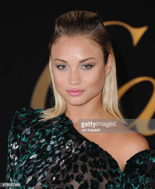 Model Rose Bertram arrives at the Panthere De Cartier Party In LA at Milk Studios on May 5 2017 in Los Angeles California