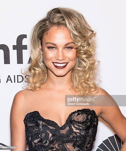 Model Rose Bertram attends the 2016 amfAR New York Gala at Cipriani Wall Street on February 10 2016 in New York City