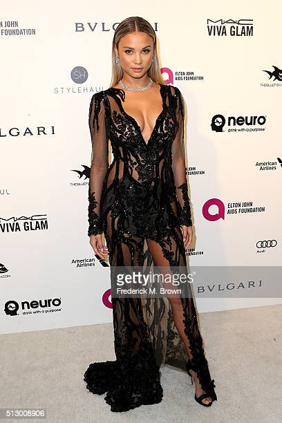 Model Rose Bertram attends the 24th Annual Elton John AIDS Foundation's Oscar Viewing Party on February 28 2016 in West Hollywood California