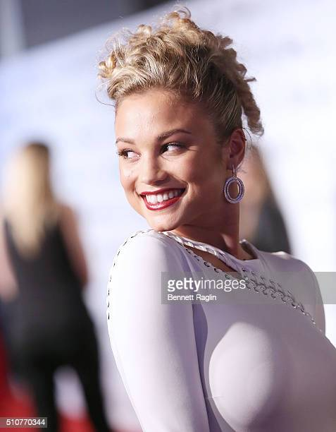 Model Rose Bertram attends the Sports Illustrated Celebrates Swimsuit 2016 at Brookfield Place on February 16 2016 in New York City