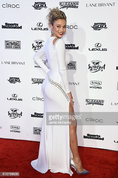 Model Rose Bertram attends the Sports Illustrated Swimsuit 2016 NYC VIP press event on February 16 2016 in New York City