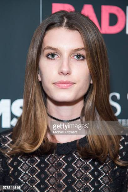 Model Rose Gilroy attends the Bad Moms New York premiere at Metrograph on July 18 2016 in New York City