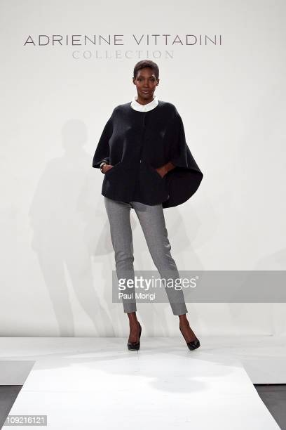 Model Roshumba on the runway at the Adrienne Vittadini Collection Fall 2011 Presentation during MercedesBenz fashion week at The Box at Lincoln...