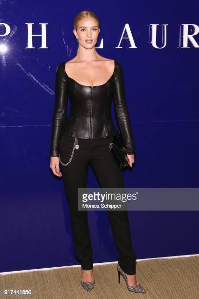 Model Rosie Huntington Whiteley attends the Ralph Lauren fashion show during New York Fashion Week The Shows on February 12 2018 in New York City