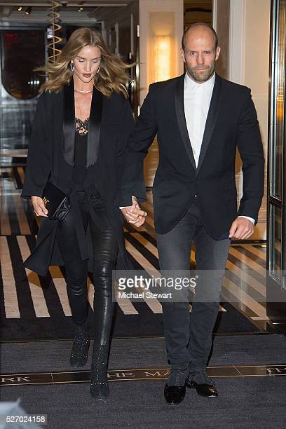 Model Rosie HuntingtonWhiteley and actor Jason Statham are seen in the Upper East Side on May 1 2016 in New York City