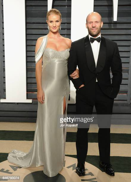 Model Rosie HuntingtonWhiteley and actor Jason Statham arrive at the 2017 Vanity Fair Oscar Party Hosted By Graydon Carter at Wallis Annenberg Center...