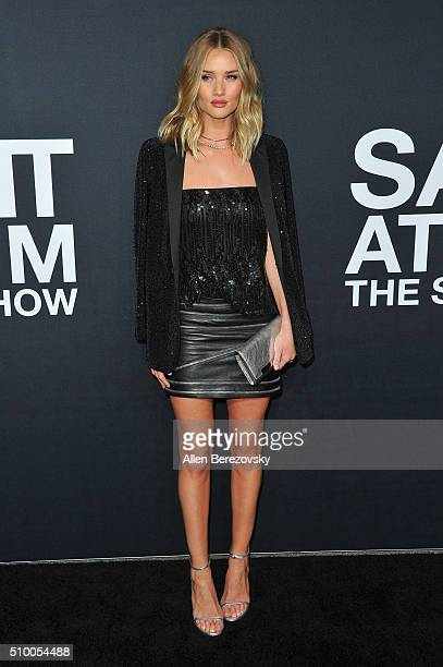 Model Rosie HuntingtonWhiteley attends SAINT LAURENT At The Palladium at Hollywood Palladium on February 10 2016 in Los Angeles California