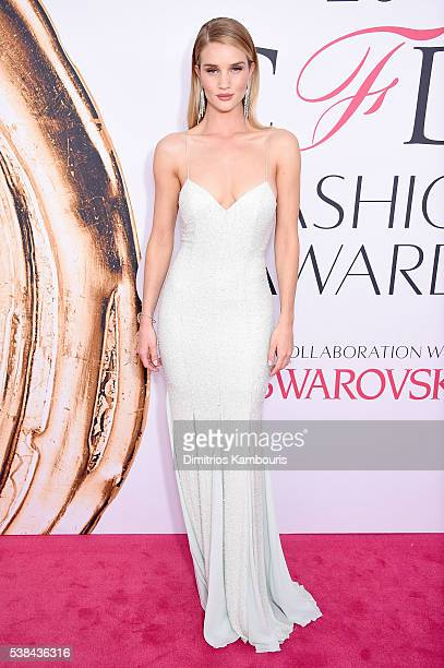 Model Rosie HuntingtonWhiteley attends the 2016 CFDA Fashion Awards at the Hammerstein Ballroom on June 6 2016 in New York City