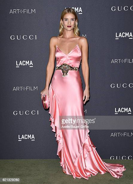 Model Rosie HuntingtonWhiteley attends the 2016 LACMA Art Film Gala honoring Robert Irwin and Kathryn Bigelow presented by Gucci at LACMA on October...
