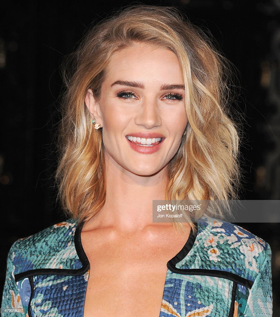 Model Rosie Huntington-Whiteley attends the Burberry 'London in Los Angeles' event at Griffith Observatory on April 16, 2015 in Los Angeles, California.