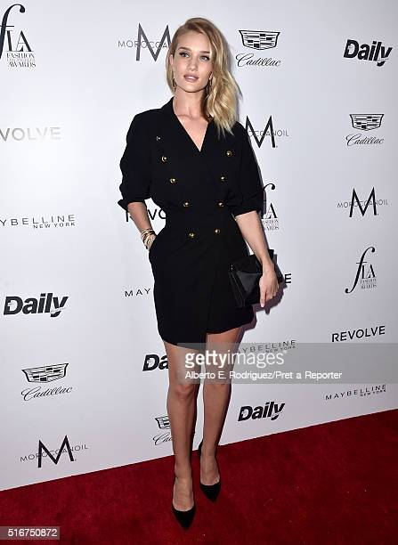 """Model Rosie Huntington-Whiteley attends the Daily Front Row """"Fashion Los Angeles Awards"""" at Sunset Tower Hotel on March 20, 2016 in West Hollywood,..."""