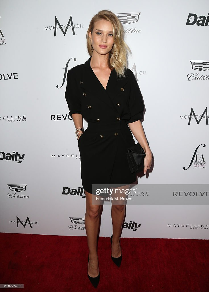 Model Rosie Huntington-Whiteley attends the Daily Front Row 'Fashion Los Angeles Awards' at Sunset Tower Hotel on March 20, 2016 in West Hollywood, California.