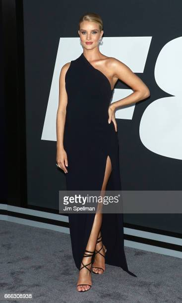 Model Rosie HuntingtonWhiteley attends The Fate Of The Furious New York premiere at Radio City Music Hall on April 8 2017 in New York City