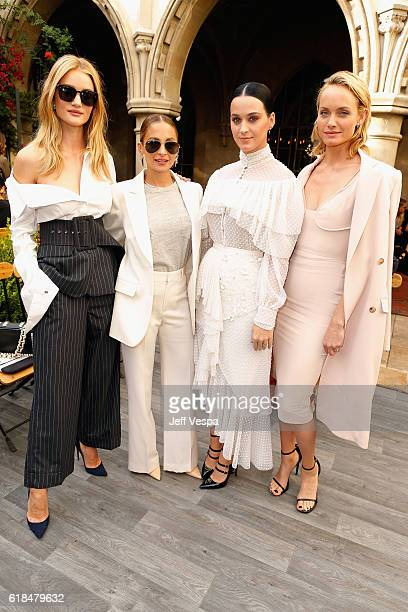 Model Rosie HuntingtonWhiteley designer Nicole Richie singer Katy Perry and model Amber Valletta at the CFDA/Vogue Fashion Fund Show and Tea...