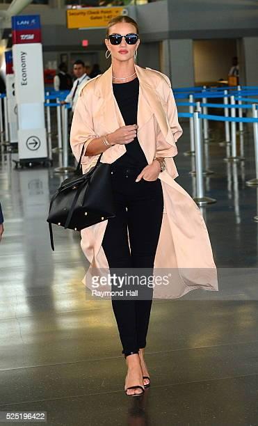 Model Rosie HuntingtonWhiteley is seen at JFK airport on April 27 2016 in New York City