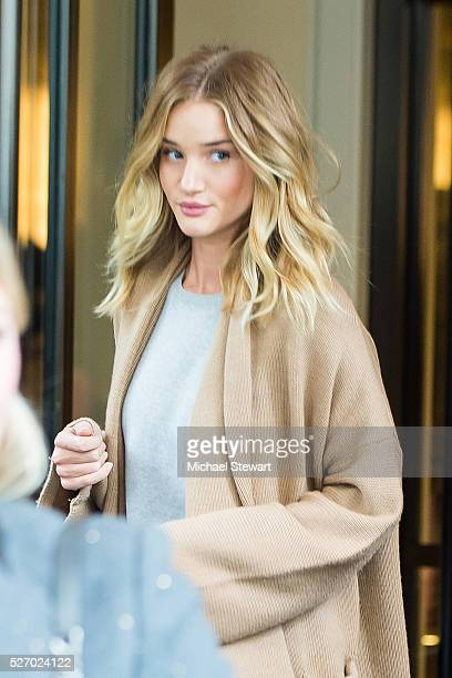Model Rosie HuntingtonWhiteley is seen in the Upper East Side on May 1 2016 in New York City
