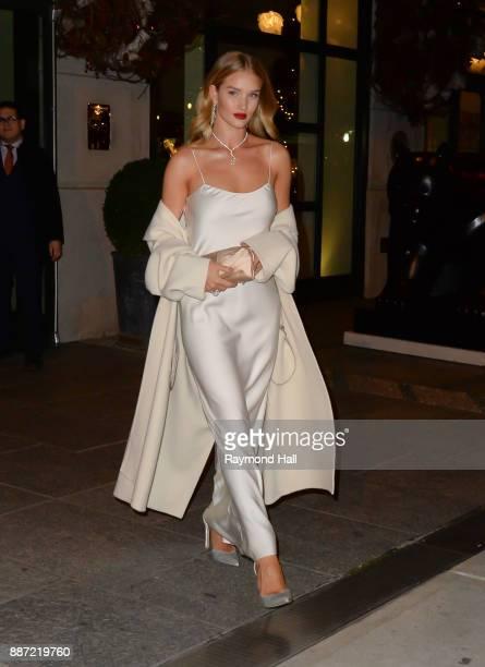 Model Rosie HuntingtonWhiteley is seen walking in Soho on December 6 2017 in New York City
