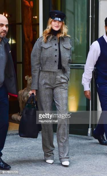 Model Rosie HuntingtonWhiteley is seen walking in Soho on February 12 2018 in New York City