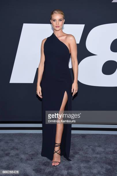 Model RosieHuntingtonWhiteley attends 'The Fate Of The Furious' New York Premiere at Radio City Music Hall on April 8 2017 in New York City