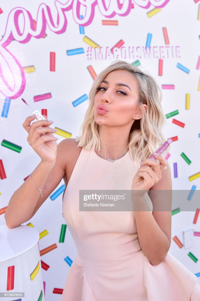 Model Roz attends MAC Cosmetics Oh Sweetie Lipcolour Launch Party in Beverly Hills on June 12, 2018 in Beverly Hills, California.