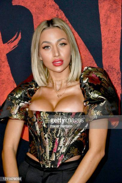 Model Roz attends the premiere of Disney's Mulan at Dolby Theatre on March 09 2020 in Hollywood California
