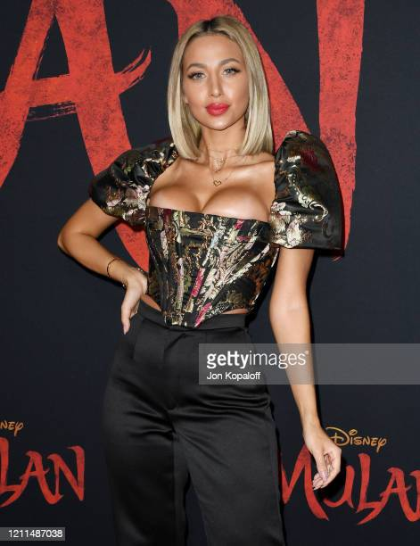 Model Roz attends the premiere of Disney's Mulan on March 09 2020 in Hollywood California
