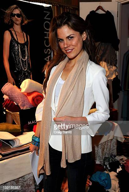 Model Roz Lipsett attends the EXTRA Luxury Lounge In Honor Of 83rd Annual Academy Awards day 1 held at the Four Seasons Hotel Los Angeles at Beverly...