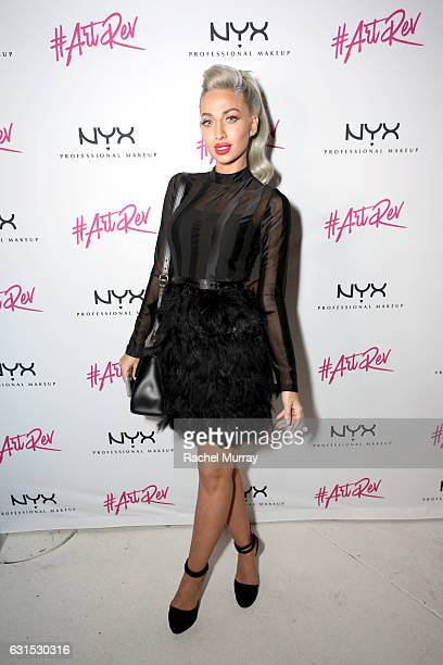 Model Roz @model_roz attends the NYX Cosmetics professional makeup #ArtRev 2017 Welcome Party on January 11 2017 in West Hollywood California