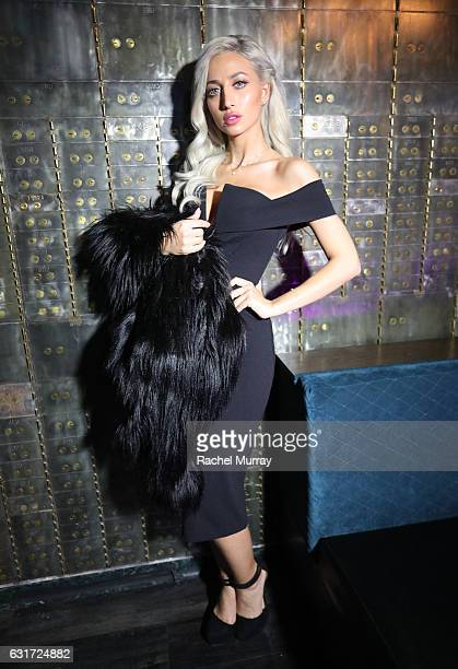 Model Roz @model_roz attends the NYX Professional Makeup Presents Neon Nights IMATS LA VIP Party at The Reserve on January 14 2017 in Los Angeles...